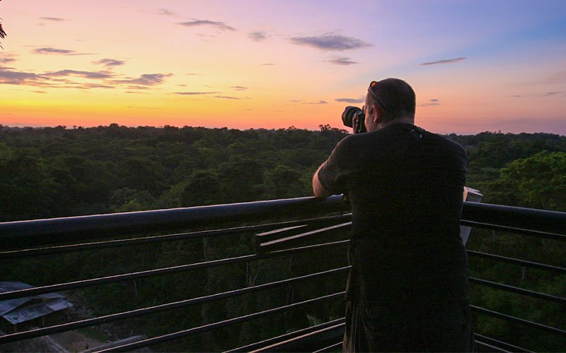Tower Amazon Jungle Ecuador forest sunset sky