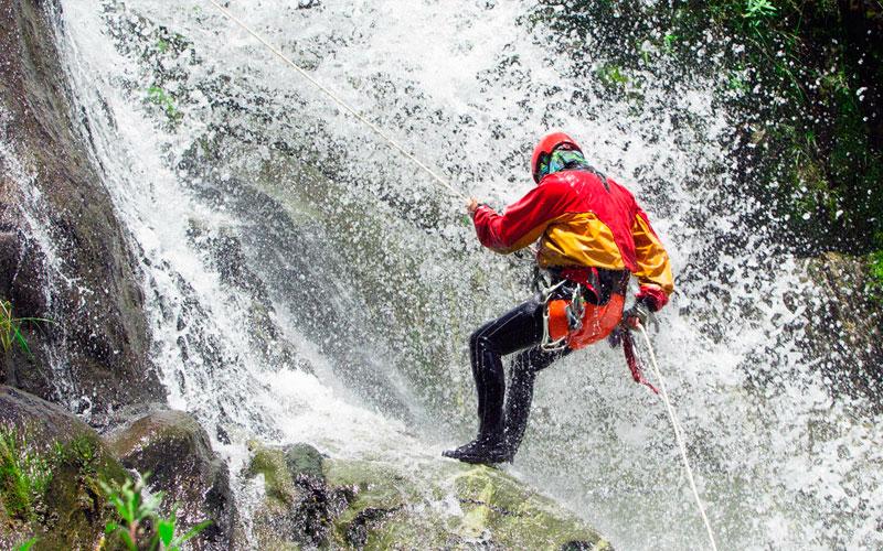Canyoning Ecuador adventure travel sports extreme
