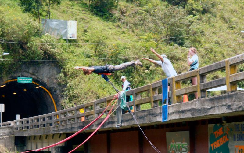 bungee jumping ecuador adventure travel sports