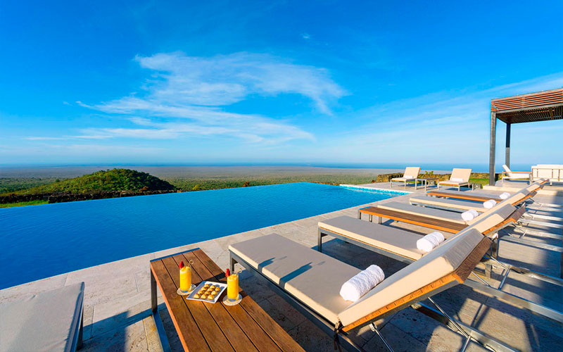 pool landscape galapagos hotel luxury ecuador travel vacation tour