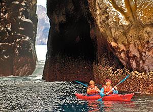kayaking kicker rock