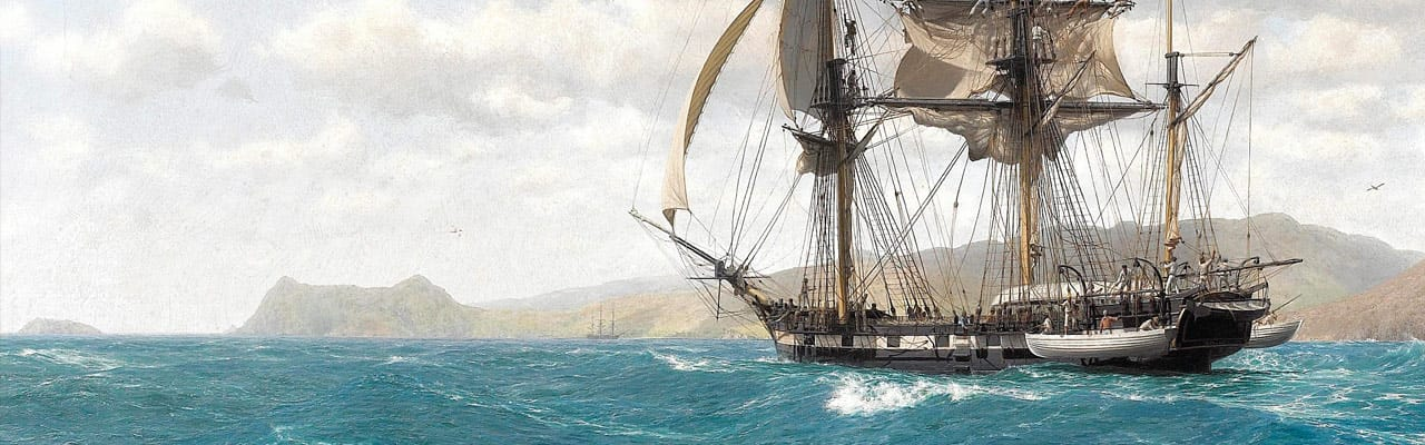 Charles Darwin in Galapagos
