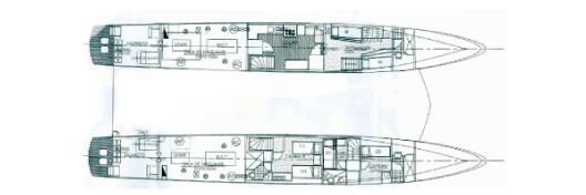 Archipel II Lower Deck